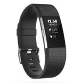 Fitbit Charge 2 Fitness Tracker - Black / Silver - Large