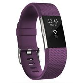 Fitbit Charge 2 Fitness Tracker - Plum/Silver - Large