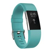 Fitbit Charge 2 Fitness Tracker - Teal/Silver - Large