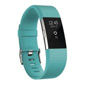 Fitbit Charge 2 Fitness Tracker - Teal/Silver - Small