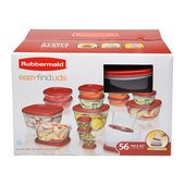 Rubbermaid 56-Piece Easy Find Lid Food Storage Set