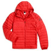 ADIDAS LOGO SLV NUVIC HOODED JACKET RED