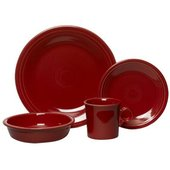 Fiesta 4-Piece Dinnerware Set, Scarlet