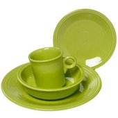 Fiesta 4-Piece Dinnerware Set, Lemongrass