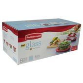 Rubbermaid Easy Find Lids 8-Piece Glass Food Storage Set