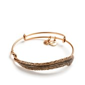 Alex and Ani Quill Feather Expandable Bangle, Gold Finish