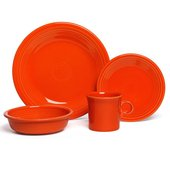 Fiesta 4-Piece Dinnerware Set, Poppy