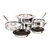 All-Clad Stainless Steel Non-Stick 10-Piece Cookware Set